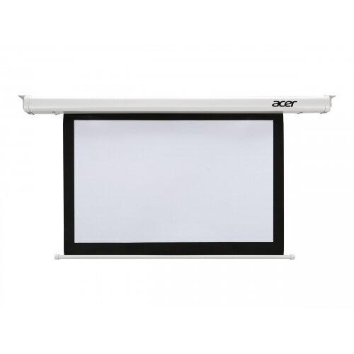 Acer E100-W01MW - Projection screen - ceiling mountable, wall mountable - motorised - 220/230 V - 100 in (254 cm) - 16:10 - Matt White