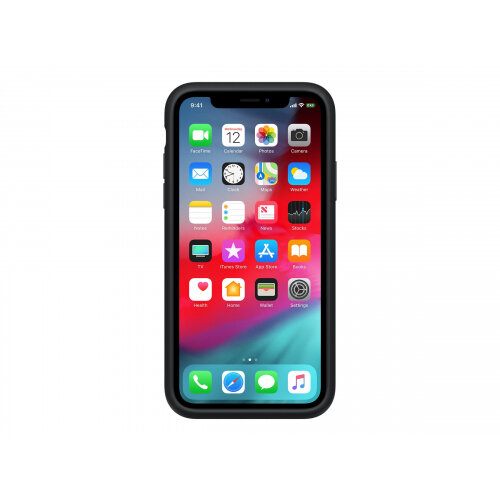 Apple Smart - Battery case for mobile phone - silicone - black - for iPhone XR