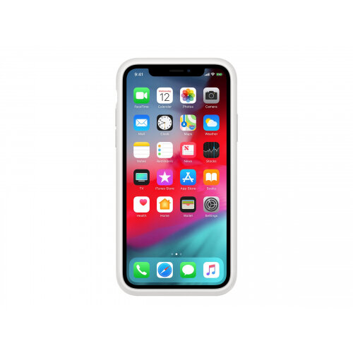 Apple Smart - Battery case for mobile phone - silicone - white - for iPhone XS