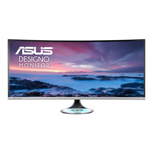 ASUS Designo Curve MX38VC - LED monitor - curved - 37.5&uot; - 3840 x 1600 Ultra WQHD - IPS - 300 cd/m&up2; - 1000:1 - 5 ms - 2xHDMI, DisplayPort, USB-C - speakers - black, space grey