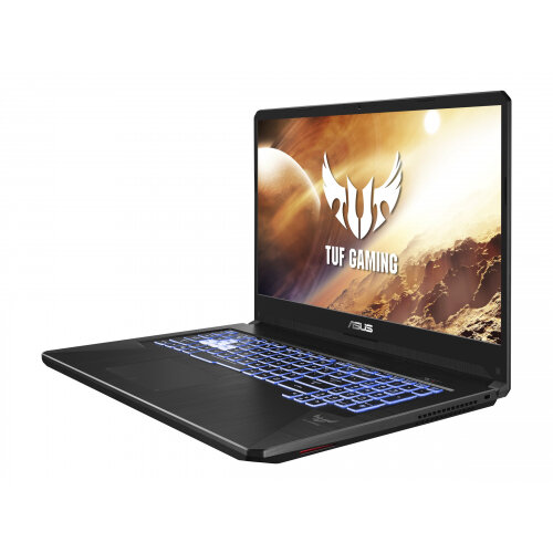 ASUS TUF Gaming FX705DU AU024T - Ryzen 7 3750H / 2.3 GHz - Windows 10 Home - 8 GB RAM - 512 GB SSD - 17.3&uot; 1920 x 1080 (Full HD) - GF GTX 1660 Ti - 802.11ac, Bluetooth - grey, gold