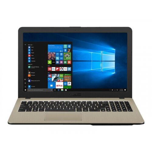 ASUS VivoBook 15 X540UA-GQ1796T - Core i3 7020U / 2.3 GHz - Win 10 Home 64-bit - 4 GB RAM - 1 TB Hybrid Drive - 15.6&uot; 1366 x 768 (HD) - UHD Graphics 620 - chocolate black IMR with hairline (LCD cover), gold IMR with hairline (top)
