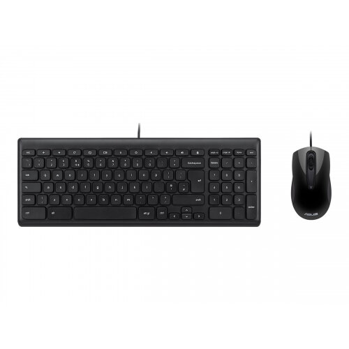 ASUS Wired Chrome OS Keyboard and Mouse - Keyboard and mouse set