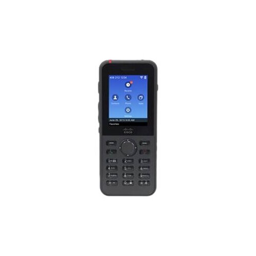 Cisco Unified Wireless IP Phone 8821 - Cordless extension handset - Bluetooth interface - IEEE 802.11a/b/g/n/ac (Wi-Fi) - SIP - 6 lines