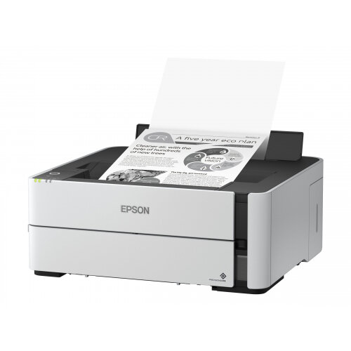 Epson EcoTank ET-M1180 - Printer - monochrome - Duplex - ink-jet - A4/Legal - 1200 x 2400 dpi - up to 39 ppm - capacity: 250 sheets - USB 2.0, LAN