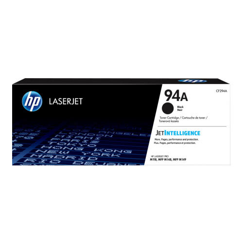HP 94A - Black - original - LaserJet - toner cartridge (CF294A) - for LaserJet Pro M118dw, MFP M148dw, MFP M148fdw