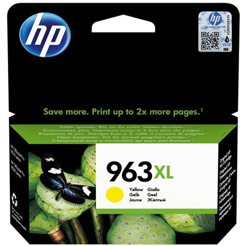 HP 963XL - 22.92 ml - High Yield - yellow - original - ink cartridge - for Officejet Pro 9010, 9012, 9013, 9014, 9015, 9016, 9019/Premier, 9020, 9022, 9023, 9025