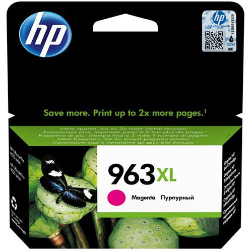 HP 963XL - 23.25 ml - High Yield - magenta - original - ink cartridge - for Officejet Pro 9010, 9012, 9013, 9014, 9015, 9016, 9019/Premier, 9020, 9022, 9023, 9025