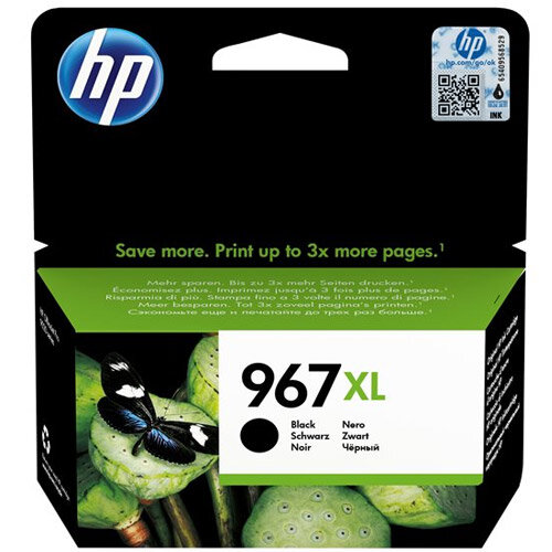 HP 967XL - 68.72 ml - High Yield - black - original - ink cartridge - for Officejet Pro 9020, 9022, 9023, 9025