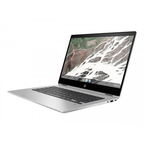 HP Chromebook x360 14 G1 - Flip design - Pentium Gold 4415U / 2.3 GHz - Google Chrome OS 64 - 8 GB RAM - 32 GB eMMC - 14&uot; IPS touchscreen 1920 x 1080 (Full HD) - HD Graphics 610 - Wi-Fi, Bluetooth - sleek metal - kbd: UK