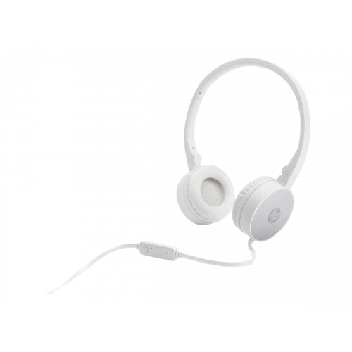 HP H2800 - Headphones with mic - on-ear - wired - 3.5 mm jack - silver - for OMEN by HP 15; OMEN Obelisk by HP 875; HP 14; ENVY x360; Pavilion 15; Spectre x360
