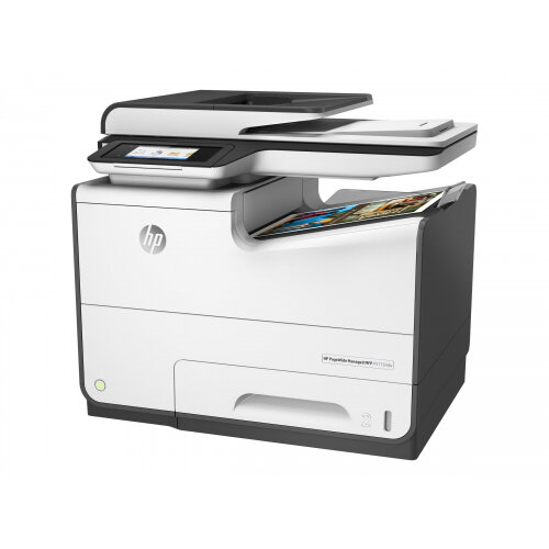 HP PageWide Managed MFP P57750dw - Multifunction printer - colour - page wide array - 216 x 356 mm (original) - A4/Legal (media) - up to 75 ppm (printing) - 500 sheets - 33.6 Kbps - USB 2.0, LAN, USB 2.0 host, USB 2.0 host (internal)