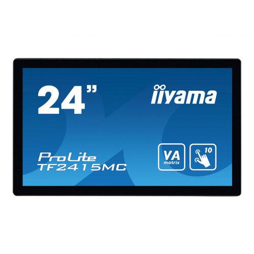 iiyama ProLite TF2415MC-B2 - LED monitor - 23.8&uot; - open frame - touchscreen - 1920 x 1080 Full HD (1080p) - VA - 350 cd/m&up2; - 3000:1 - 16 ms - HDMI, VGA, DisplayPort - black