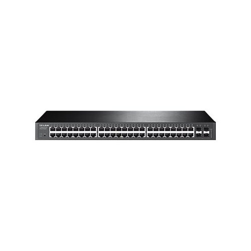 TP-Link JetStream T1600G-52TS - Switch - Managed - 48 x 10/100/1000 + 4 x combo Gigabit SFP - rack-mountable