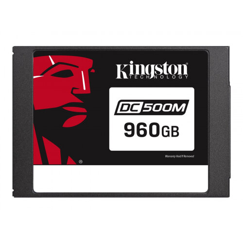 Kingston Data Center DC500M - Solid state drive - encrypted - 960 GB - internal - 2.5&uot; - SATA 6Gb/s - 256-bit AES - Self-Encrypting Drive (SED)