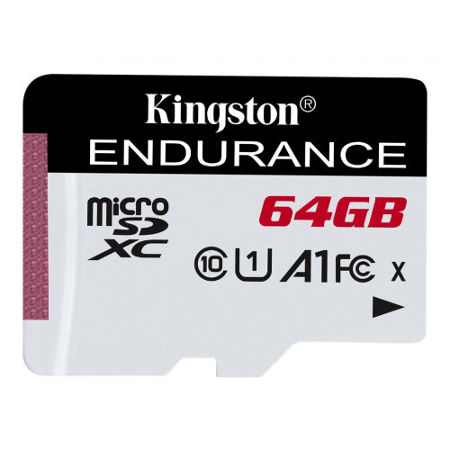 Kingston High Endurance - Flash memory card - 64 GB - A1 / UHS-I U1 / Class10 - microSDXC UHS-I
