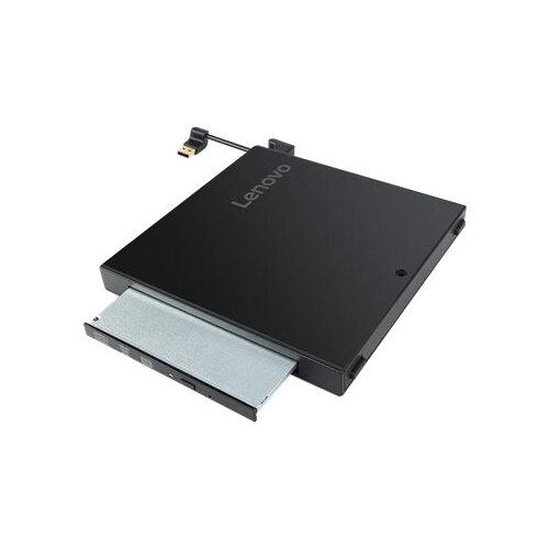 Lenovo ThinkCentre Tiny IV DVD-ROM Kit - Disk drive - DVD-ROM - 16x - USB 2.0 - external - for ThinkCentre M710q (tiny); M715q (2nd Gen); M910q (tiny); M910x; ThinkStation P320; P330