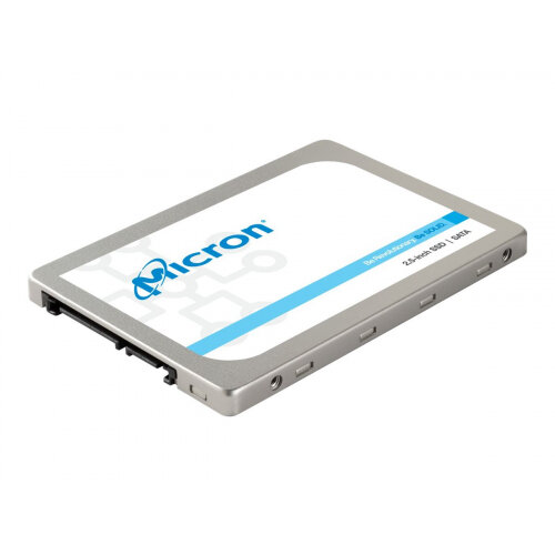 Micron - Solid state drive - encrypted - 1024 GB - internal - 2.5&uot; - SATA 6Gb/s - Self-Encrypting Drive (SED)