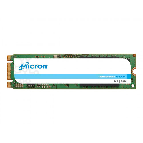 Micron 1300 - Solid state drive - encrypted - 512 GB - internal - M.2 - SATA 6Gb/s - Self-Encrypting Drive (SED), TCG Opal Encryption