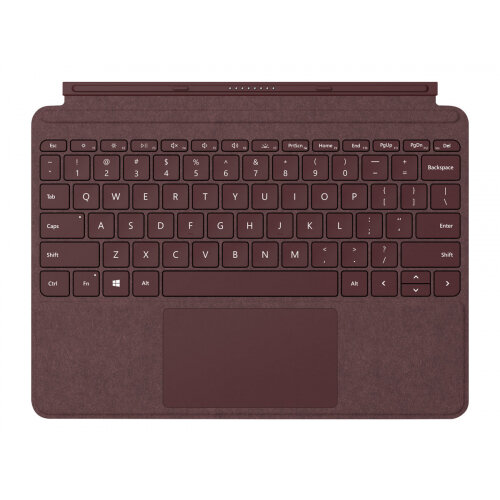 Microsoft Surface Go Signature Type Cover - Keyboard - with trackpad, accelerometer - backlit - British - burgundy - commercial - for Surface Go