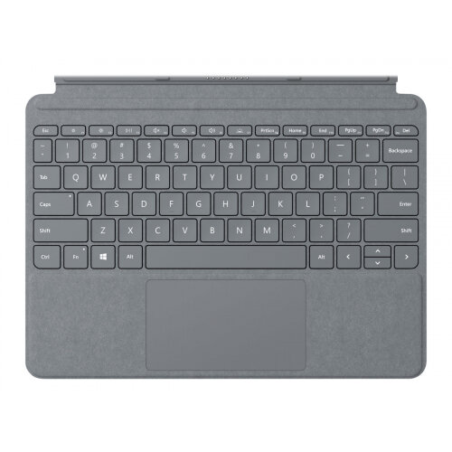Microsoft Surface Go Signature Type Cover - Keyboard - with trackpad, accelerometer - backlit - British - platinum - commercial - for Surface Go
