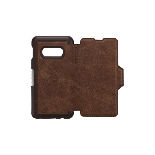 OtterBox Strada - Flip cover for mobile phone - leather, polycarbonate - espresso brown - for Samsung Galaxy S10e