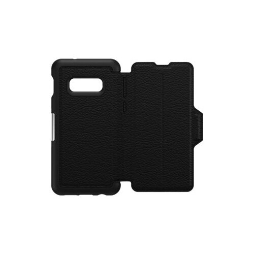 OtterBox Strada - Flip cover for mobile phone - leather, polycarbonate - shadow black - for Samsung Galaxy S10e