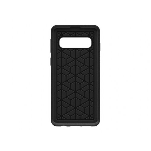 OtterBox Symmetry Series - Back cover for mobile phone - polycarbonate, synthetic rubber - black - for Samsung Galaxy S10