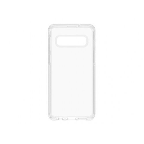 OtterBox Symmetry Series - Back cover for mobile phone - polycarbonate, synthetic rubber - clear - for Samsung Galaxy S10