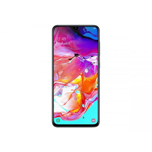 Samsung Galaxy A70 - Smartphone - dual-SIM - 4G LTE - 128 GB - microSDXC slot - GSM - 6.7&uot; - 2400 x 1080 pixels - Super AMOLED - RAM 6 GB (32 MP front camera) - 3x rear cameras - Android - black