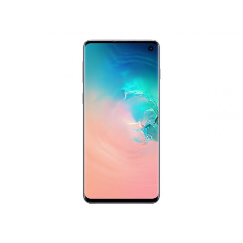 Samsung Galaxy S10 - Smartphone - dual-SIM - 4G Gigabit Class LTE - 128 GB - microSDXC slot - TD-SCDMA / UMTS / GSM - 6.1&uot; - 3040 x 1440 pixels (550 ppi) - Dynamic AMOLED - RAM 8 GB 10 Megapixel - 3x rear cameras - Android - prism white