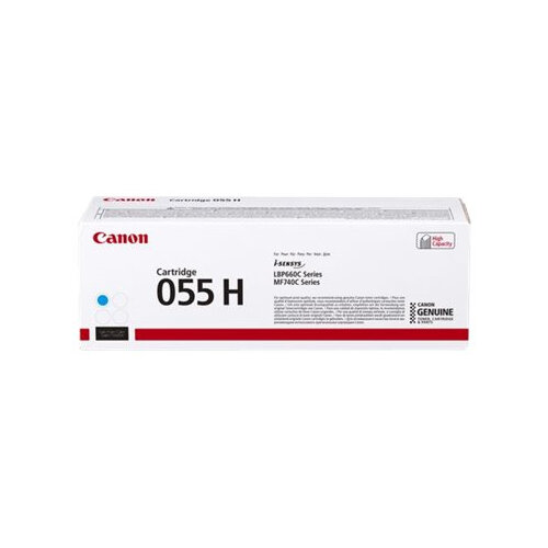 Canon 055 H - High capacity - cyan - original - toner cartridge - for i-SENSYS LBP663Cdw, LBP664Cx, MF742Cdw, MF744Cdw, MF746Cx