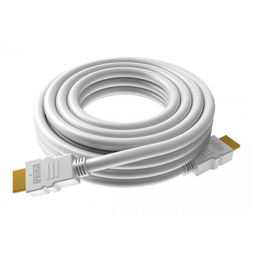 VISION Techconnect - HDMI with Ethernet cable - HDMI (M) to HDMI (M) - 10 m - white - halogen-free, 4K support