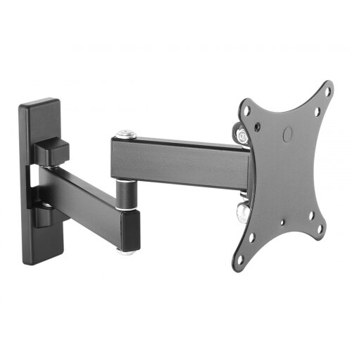 Vision VFM-WA1X1B - Mounting kit (wall arm) for Monitor - cold-rolled steel - black - screen size: 13&uot;-27&uot;