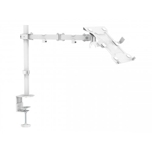 Vision VFM-DP2W+S - Desk mount for LCD display / notebook (adjustable arm) - powder-coated steel - white