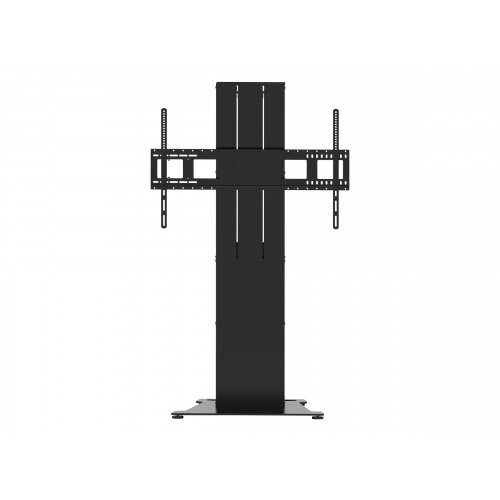 Vision VFM-F40/FP - Heavy Duty - floor stand for interactive flat panel / LCD display (motorised) - steel - matte black - screen size: 47&uot;-90&uot;