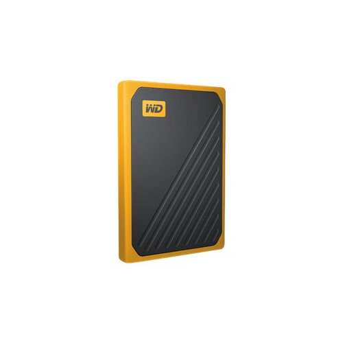WD My Passport Go WDBMCG0010BYT - Solid state drive - 1 TB - external (portable) - USB 3.0 - black with amber trim