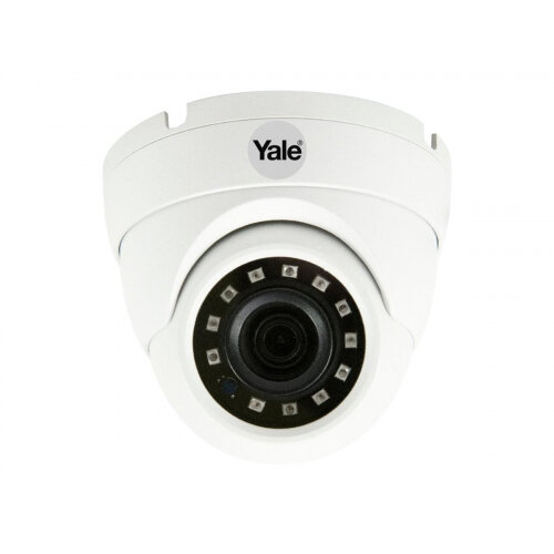 Yale Smart Home CCTV Dome Camera - Surveillance camera - dome - outdoor, indoor - weatherproof - colour (Day∓Night) - 1920 x 1080 - 1080p