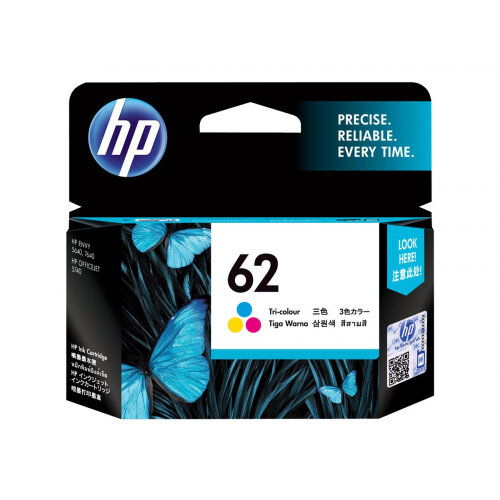 HP 62 - 4.5 ml - dye-based tricolour - original - ink cartridge - for Envy 55XX, 56XX, 76XX; Officejet 250, 252, 57XX, 8040