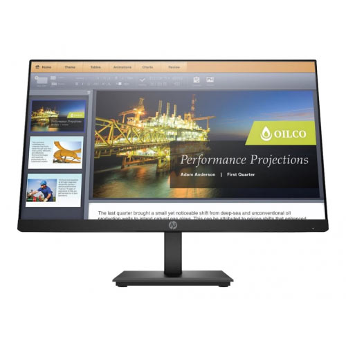 HP P224 - LED monitor - 21.5&uot; (21.5&uot; viewable) - 1920 x 1080 Full HD (1080p) - VA - 250 cd/m&up2; - 2000:1 - 5 ms - HDMI, VGA, DisplayPort - black