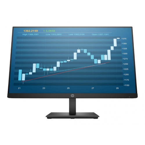 HP P244 - LED monitor - 23.8&uot; (23.8&uot; viewable) - 1920 x 1080 Full HD (1080p) - IPS - 250 cd/m&up2; - 1000:1 - 5 ms - HDMI, VGA, DisplayPort - black