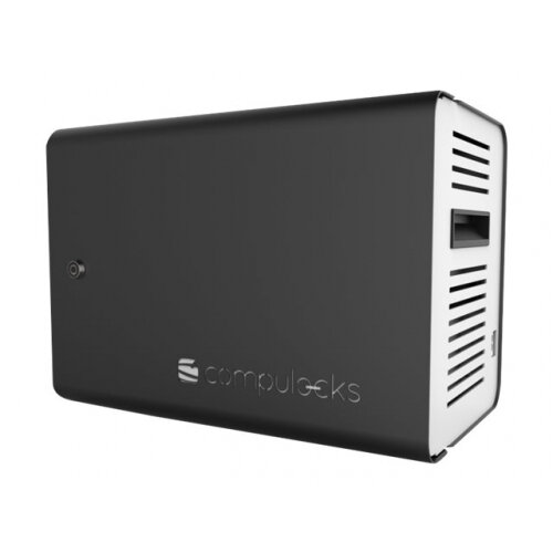 Compulocks ChargeBox Tablet Locker - Charging station - 10 output connectors (USB) - black - Asia, Middle East, Europe