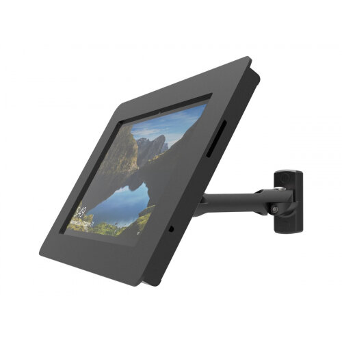 Compulocks Rokku Swing Arm - Enclosure for tablet - lockable - high-grade aluminium - black - wall-mountable, counter top - for Microsoft Surface Pro (Mid 2017), Pro 3, Pro 4