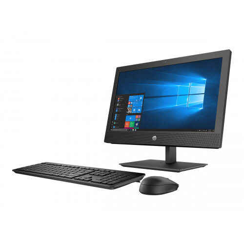 HP ProOne 400 G4 - All-in-one - 1 x Core i5 8500T / 2.1 GHz - RAM 8 GB - HDD 1 TB - DVD-Writer - UHD Graphics 630 - GigE, Bluetooth 5.0 - WLAN: 802.11a/b/g/n/ac, Bluetooth 5.0 - Win 10 Pro 64-bit - monitor: LED 20&uot; 1600 x 900 (HD+) - keyboard: UK