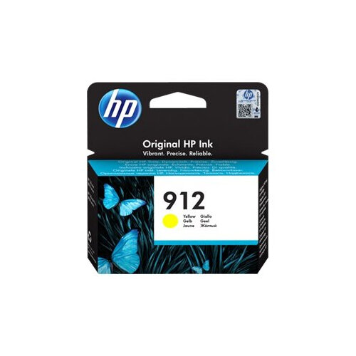 HP 912 - 2.93 ml - yellow - original - ink cartridge - for Officejet 8012, 8013, 8014, 8015; Officejet Pro 8020, 8022, 8024, 8025, 8035