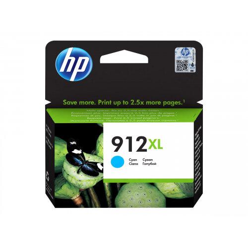 HP 912XL - 9.9 ml - High Yield - cyan - original - ink cartridge - for Officejet 8012, 8013, 8014, 8015; Officejet Pro 8020, 8022, 8024, 8025, 8035