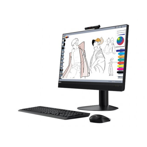 Lenovo ThinkCentre M920z 10S6 - All-in-one - with UltraFlex III Stand - 1 x Core i5 9500 / 3 GHz - RAM 8 GB - SSD 256 GB - TCG Opal Encryption, NVMe - DVD-Writer - UHD Graphics 630 - GigE, Bluetooth 5.0 - WLAN: 802.11a/b/g/n/ac, Bluetooth 5.0 - Win 10 Pro