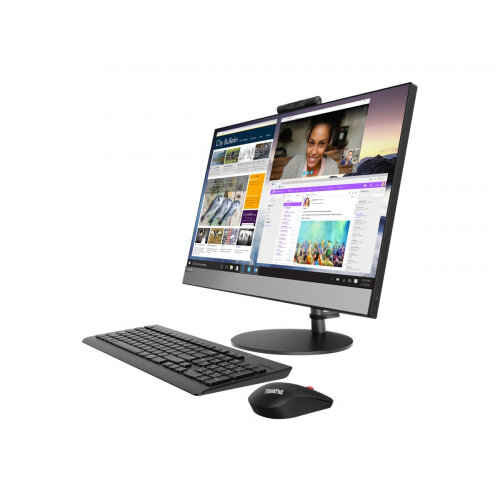 Lenovo V530-24ICB 10UW - All-in-one - with monitor stand - 1 x Core i5 9400T / 1.8 GHz - RAM 8 GB - HDD 1 TB - DVD-Writer - UHD Graphics 630 - GigE - WLAN: Bluetooth 4.0, 802.11ac - Win 10 Pro 64-bit - monitor: LED 23.8&uot; 1920 x 1080 (Full HD) touchsc