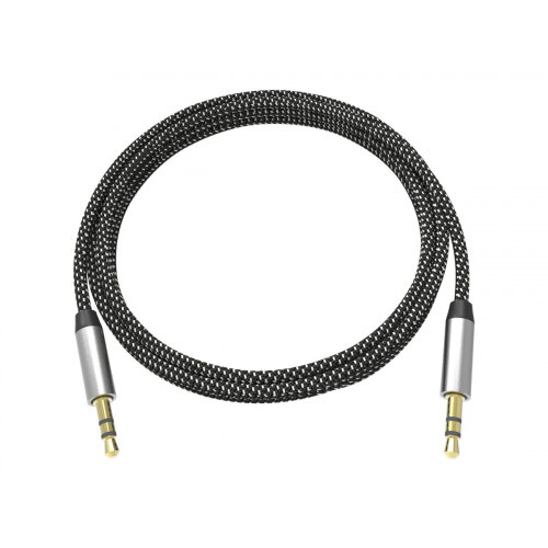 VISION Professional Premium Braided - Audio cable - mono mini jack (M) to mono mini jack (M) - 2 m - black, white