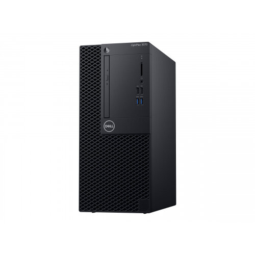 Dell OptiPlex 3070 - MT - 1 x Core i5 9500 / 3 GHz - RAM 8 GB - SSD 256 GB - NVMe, Class 35 - DVD-Writer - UHD Graphics 630 - GigE - Win 10 Pro 64-bit - monitor: none - BTS - with 1 Year Basic Onsite
